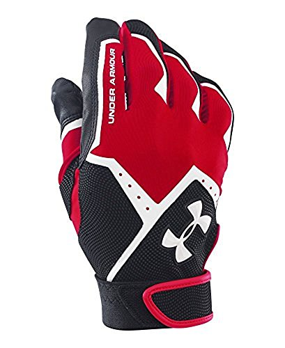 Under Armour Boys' Clean-Up VI Baseball Batting Gloves,Red (600)/White,Youth Small