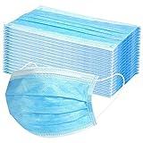 50 Stück Einweg Mundschutz für Erwachsene, 3 Lagig Mund-Nasen-Schutz, OSYARD Einfarbig Atmungsaktiv Multifunktionstuch Bandana Half Face Halstuch