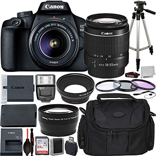 Canon EOS 4000D DSLR Camera with EF-S 18-55mm f/3.5-5.6 III Lens...