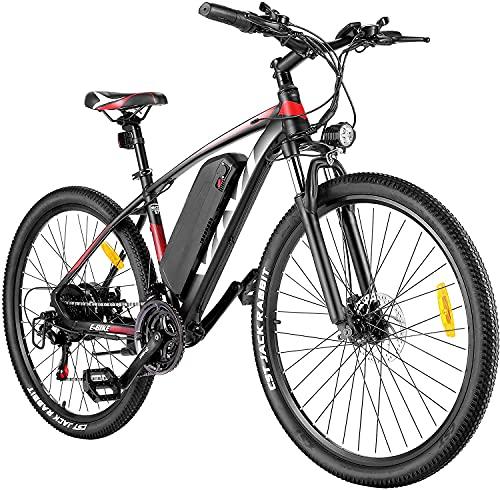 VIVI Vélo Électrique, 26'/27,5' VTT Électrique, 350W Vélos électriques pour Adultes avec Batterie Lithium-ION Amovible De 10,4 Ah, Engrenages Professionnels 21 Vitesses