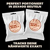 Gym Jerky Beef Barbecue 1kg – 25x40g High Protein – Low Fat & Low Carb – Deutsches Premium-Rindfleisch Made in Germany - 6