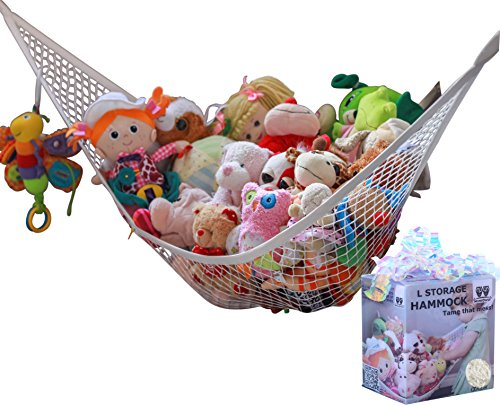 MiniOwls Toy Storage Hammock - Plush Animal Organizer for Bedroom...