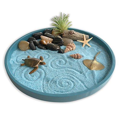 Mini Zen Garden Sea Life, A Day at The Ocean, Desktop Sandbox for...