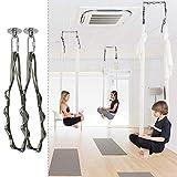 Aerial Trapeze Yoga Swing Yoga Hammock 1100 LB Capacity Heavy Duty Hammock Hanging Kit for Home Indoor Outdoor Gym