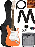Fender Squier Affinity Stratocaster - Competition Orange Bundle with Frontman 10G Amplifier, Gig Bag, Instrument Cable, Tuner, Strap, Picks, and Austin Bazaar Instructional DVD