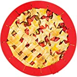 QA Adjustable Pie Crust Shields Food-Grade Silicone Pie Ring BPA-Free Pie Edge Protectors Bake Pie Crust Cover fits Rimmed Dish 8 to 12 Inhces Baking Pie Pizza Puff Pastry