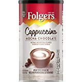 Folgers Cappuccino, Mocha Chocolate Coffee Beverage Mix, 16-Ounces Canisters (Pack of 6), Packaging May Vary