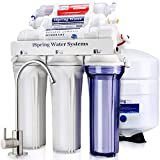 iSpring RCC7AK 6-Stage Superb Taste High Capacity Under Sink Reverse Osmosis Drinking Water Filter System with Alkaline Remineralization-Natural pH, White