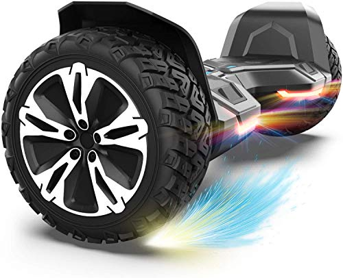 Gyroor Warrior 8.5 inch All Terrain Off Road Hoverboard with Bluetooth Speakers and LED Lights,...