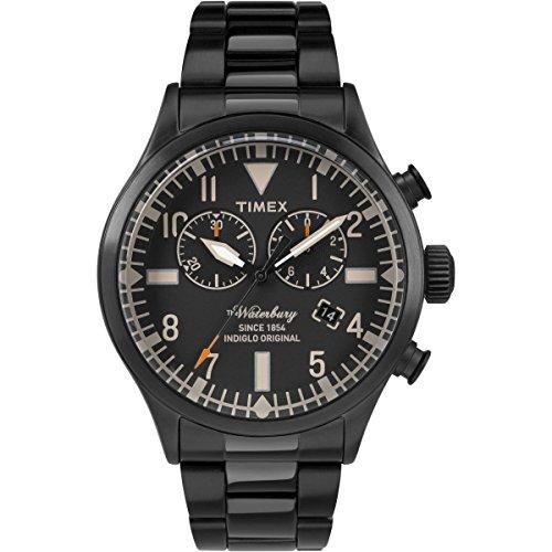 Timex Herren Analog Quarz Uhr mit Edelstahl Armband TW2R25000VQ