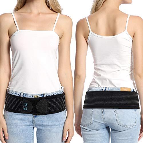 Iliosakralgürtel, SI Gürtel Iliosakralgelenk Gürtel Sacroiliac Belt Hüftgurt mit zweilagigem Klettverschluss zur Stabilisierung des SI-Gelenks und zur Linderung von Ischiasnerven, Becken-, Rücken