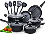 Cook N Home 15-Piece Nonstick Stay...