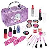 Anpro 23 PCS Coffrets Maquillage Enfant Jouet Fille Lavable Crayon à Sourcils...