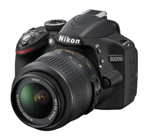 Nikon D3200 Fotocamera Reflex Digitale, 24.2 Megapixel con Obiettivo 18-55VR, Colore Nero [Versione...