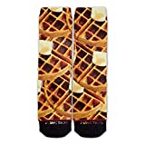 Function - Waffles and Syrup Breakfast Fashion Socks Food Bacon Eggs Pancake Butter Chicken Gravy Soul