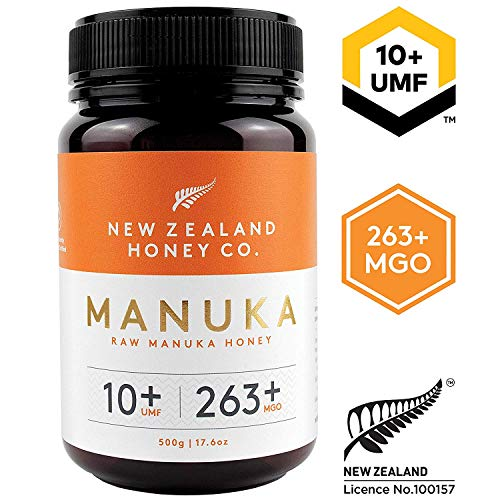 New Zealand Honey Co. Raw Manuka Honey UMF 10+ | MGO 263+, 17.6oz / 500g