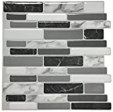 Art3d Peel and Stick Wall Tile for Kitchen Backsplash, 12'x12', (10 Tiles)