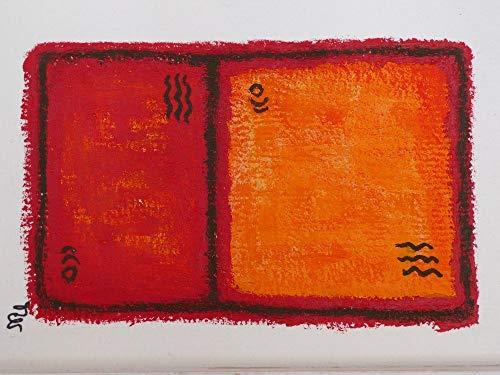 """Gemälde 10x14 cm """"Signs"""" auf Büttenkarton ohne Rahmen, Acrylmalerei, Kunstwerk zum Aufhängen, Wandbild zur Dekoration, Geschenk, Mitbringsel Home Deko"""
