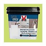 V33 Déco LAB Peinture Salle de bain 100% Etanche Feuille de bambou - 0,75 L