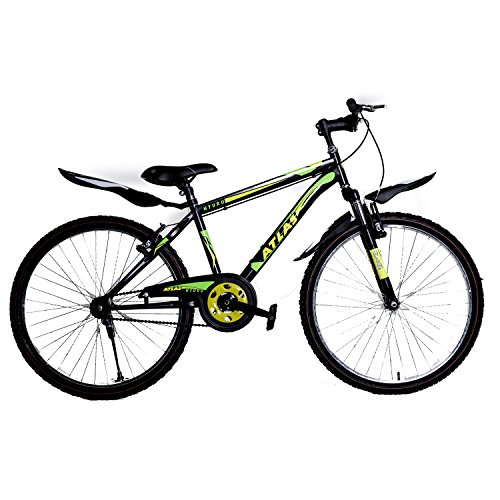Atlas Men's and Women's Steel Hydro FS 26T Mat BMX Bike (Black and Green)