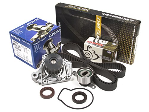 Evergreen TBK224MWPA2 Compatible With 96-00 Honda Civic 1.6 D16Y7 D16Y8 Timing Belt Kit AISIN Water Pump