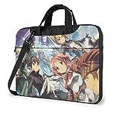 XCNGG Sword Art Online Anime Laptop Hombro Messenger Bag Tablet Computer Storage Mochila Bolso 14 Pulgadas