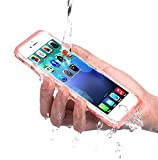 PISSION Waterproof Cases Full Protection Cover Transparent Bumper for iPhone 6/6S(Rose Gold)