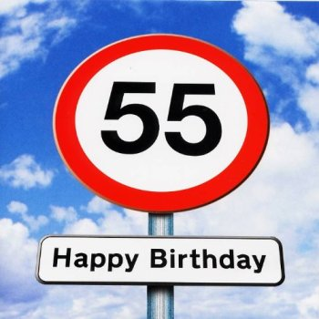 Twizler 55th Birthday Card - Roadsign - 55 Year Old – Age 55 Birthday Card