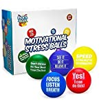 Pick A Toy Motivational Stress Balls for Kids and Adults (5-Pack) Promote Anxiety and Stress Relief | Motivate and Inspire Students, Staff, Teams | Squishy, Assorted Colors