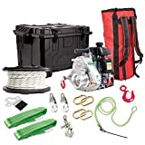 Portable Winch Gas-Powered Capstan Winch Hunting Kit - 2,200-Lb. Pulling Capacity, 2.1 HP, Honda GHX-50 Engine, Model Number PCW5000-HK