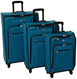American Tourister AT Pops Plus Softside 3-Piece Spinner Wheel Luggage Set, Moroccan Blue