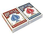 Bicycle- Rider Back Standard Index 2 Pack 2 Jeu de Cartes de Poker, 608081,...