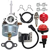 632371 Carb for Tecumseh H70 HSK70 Snow Blower 632371A Carb 631954 Toro Ariens 724 ST724 Snowblower Throwers with 34443A 34443B 34443C 34443D Ignition Coil