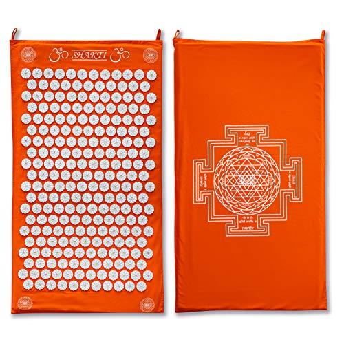 ShaktiMat Akupressurmatte original seit 2007 | Orange Massagematte zur Durchblutung und Entspannung für Rücken, Nacken, Füße | faire Herstellung | 9.000+ Nutzer in der FB Community | Shakti Matte