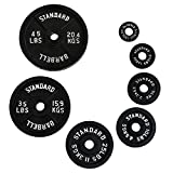 Ader Black Olympic Plates (2.5lbs) Pair, 2 Pieces