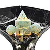 Amatolo Stone Dice , Set of 7 Handmade Dices for RPGs ,Dungeons & Dragons Dice Made by Natural...