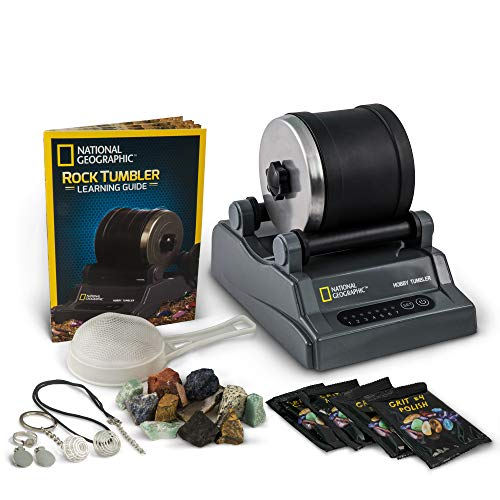 NATIONAL GEOGRAPHIC Hobby Rock Tumbler Kit - Includes Rough...