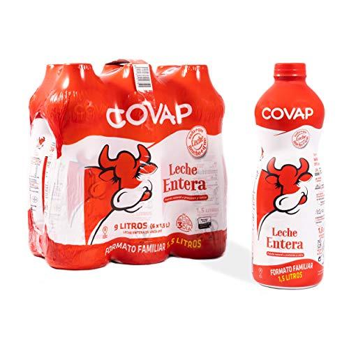 Lacteos Covap Leche Entera 1,5 L (pack 6 Unidades), 9000 Mililitro