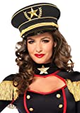 Leg Avenue Women's Military Hat, Gold/Black, One Size