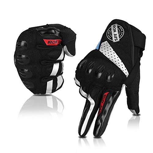 Motorradhandschuhe, Vollfinger, atmungsaktiv, Motorradhandschuhe, Touchscreen, Knöchelhandschuhe, Sommer