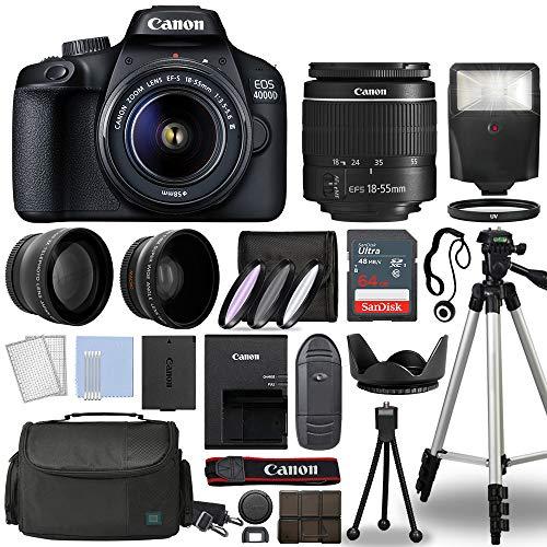 Canon EOS 4000D / Rebel T100 Digital SLR Camera Body w/Canon EF-S...