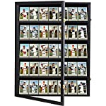 BASEBALL CARD DISPLAY CASE - Graded Sports Card Display Case holds 35 PCS sports star cards of baseball, basketball, hockey,football, and pokemon other cards with 5.4 inches height or less. The frame outer size is 24.25in X 30.5in X 2.1in, Compartmen...