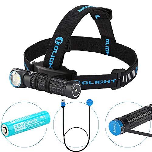 OLIGHT Perun Kit Linterna Frontal USB Recargable,LED Linterna de...