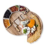 Cheese Cutting Board Set - Charcuterie Board Set and Cheese Serving Platter. US Patented 13 inch...