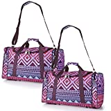5 Cities Carry On Lightweight Small Hand Luggage Cabin on Flight & Holdalls (Aztec Multicolour x2)