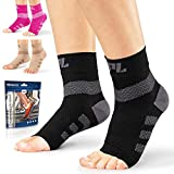 Powerlix Nano Socks for Neuropathy (Pair) for Women & Men, Ankle Brace Support, Plantar fasciitis...