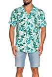 Guess Chemise homme M02H35 WCT20 PFF0 Blanc Floral - Blanc - Large