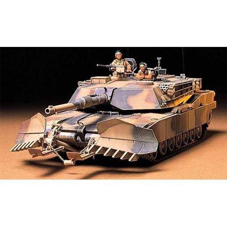 TAMIYA 300035158 35158-1:35 US Kampfpanzer M1A1 Abrams mit Minenräum-Pflug (2), Modellbausatz, Plastikbausatz, Bausatz zum Zusammenbauen, detaillierte Nachbildung