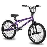 Hiland 20 Inch Kids Bike BMX Bicycles Freestyle for Boys Teenagers Purple
