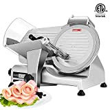 VIVOHOME 110V 320W 10 Inch Heavy Duty Stainless Steel Electric Meat Slicer Machine for Home and Commercial Use ETL Listed